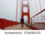 Bike On Golden Gate Bridge  Sa...