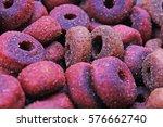 dog pet food texture. dog meat... | Shutterstock . vector #576662740