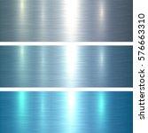 metal textures blue brushed... | Shutterstock .eps vector #576663310