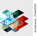 abstract geometric concept.... | Shutterstock .eps vector #576665224