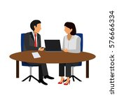 office people flat icon   Shutterstock .eps vector #576666334