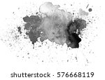 black watercolor stain.... | Shutterstock .eps vector #576668119