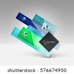 shiny glass plate surfaces with ... | Shutterstock .eps vector #576674950