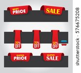 promotional sale label set with ... | Shutterstock .eps vector #576675208