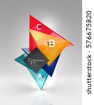 vector 3d triangle abstract... | Shutterstock .eps vector #576675820