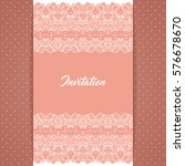 greeting card or invitation... | Shutterstock . vector #576678670