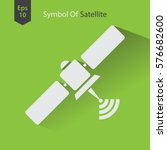 satellite icon. simple flat... | Shutterstock .eps vector #576682600