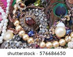 Fashion Jewels As Background....