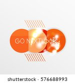 christmas sale stickers with... | Shutterstock .eps vector #576688993