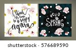 spring mood illustrations set.... | Shutterstock .eps vector #576689590