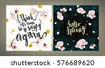 spring mood illustrations set.... | Shutterstock .eps vector #576689620