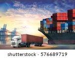 logistics import export... | Shutterstock . vector #576689719