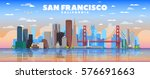 san francisco california... | Shutterstock .eps vector #576691663