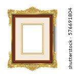 vintage gold picture frame  | Shutterstock .eps vector #576691804