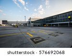 Small photo of Modern airport terminal. Jet bridge. Passenger boarding bridge.