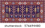 colorful mosaic oriental ...   Shutterstock . vector #576694480