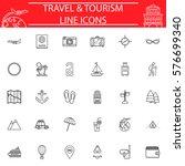 travel line pictograms package  ... | Shutterstock .eps vector #576699340