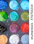 Small photo of colored acrylic artist paint