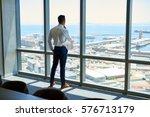 confident young executive deep... | Shutterstock . vector #576713179