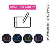 vector graphics tablet  icon.... | Shutterstock .eps vector #576719470