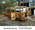 Rusty Bus At The Former Jupite...
