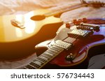 electric guitar and acoustic... | Shutterstock . vector #576734443