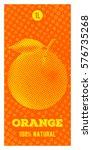 orange juice. vertical vector... | Shutterstock .eps vector #576735268