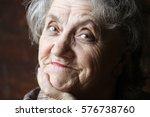 grandmother face | Shutterstock . vector #576738760