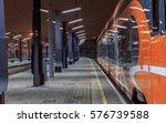 New Modern Orange Train At...