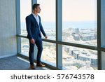 confident young businessman... | Shutterstock . vector #576743578
