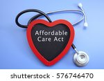 stethoscope and red love with... | Shutterstock . vector #576746470