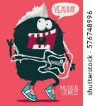 monster rock star vector design | Shutterstock .eps vector #576748996