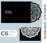 c6 paper openwork greeting card ...   Shutterstock .eps vector #576752410