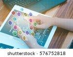 business technology concept... | Shutterstock . vector #576752818