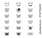 laundry symbols and icons set 1 ... | Shutterstock .eps vector #576753694