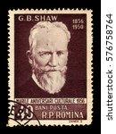 romania   circa 1956  a stamp... | Shutterstock . vector #576758764