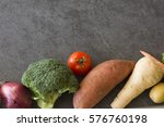 raw organic vegetables with...