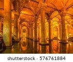 the basilica cistern  ...   Shutterstock . vector #576761884