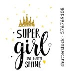 Super Girl Typography...