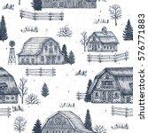 Farm Country Seamless Pattern....