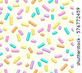 Seamless Pattern Of White Donut ...