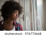 portrait of a young beautiful... | Shutterstock . vector #576773668