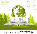 environmentally friendly world. ... | Shutterstock .eps vector #576777934