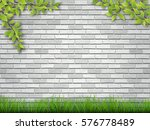 grass and tree branches on...   Shutterstock .eps vector #576778489