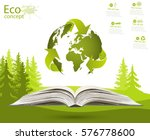 globe on opened book. the... | Shutterstock .eps vector #576778600