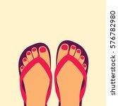 female modern feet with a... | Shutterstock .eps vector #576782980