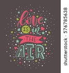 """hand lettering """"love is in the... 