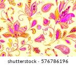 hand drawn flower seamless...   Shutterstock . vector #576786196