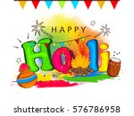 beautiful and creative holi... | Shutterstock .eps vector #576786958