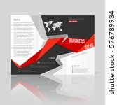 business templates for tri fold ... | Shutterstock .eps vector #576789934